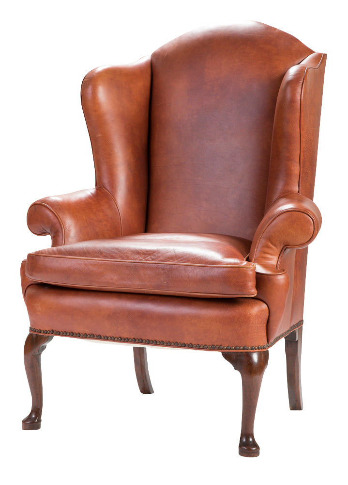 Miraculous Queen Anne Leather Armchair Gmtry Best Dining Table And Chair Ideas Images Gmtryco
