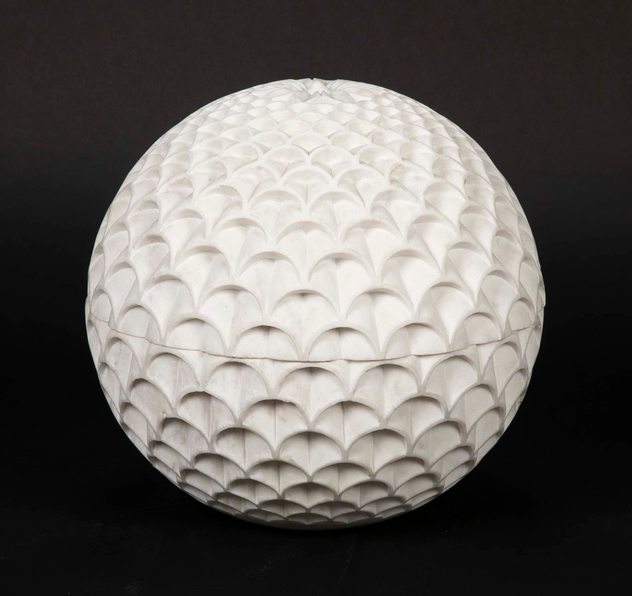 Marble Pinecone Lamp