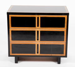 Pair of Mid-Century Ebonized Three Drawer Chests