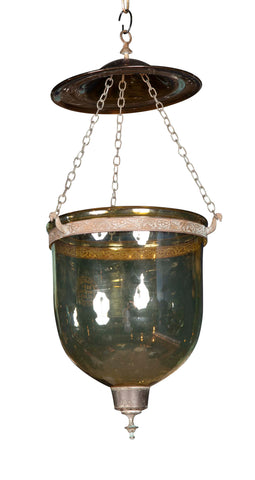 Late 19th Century Belgian Brown Glass Lantern