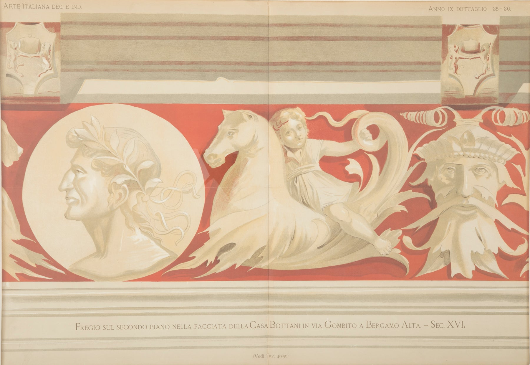 Early 20th Century Framed Engraving Of A Frieze