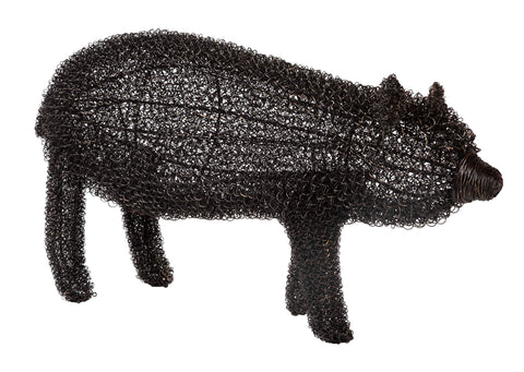 French Wire Garden Figure in the Form of a Bear