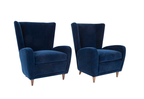 Pair of Paolo Buffa Wing Chairs from the Hotel Bristol, Merano, Italy