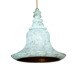 Mughal Hanging Lantern with Verdi Gris Finish