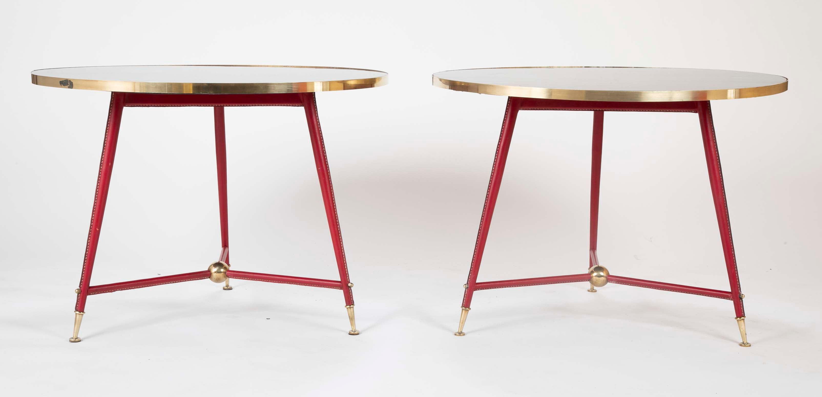 Pair Of Jules Leleu Side Tables