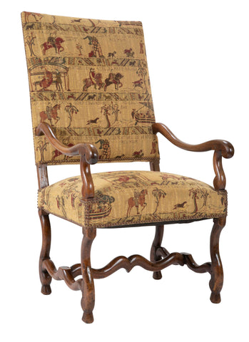 A French Louis XIII Style Walnut Arm Chair