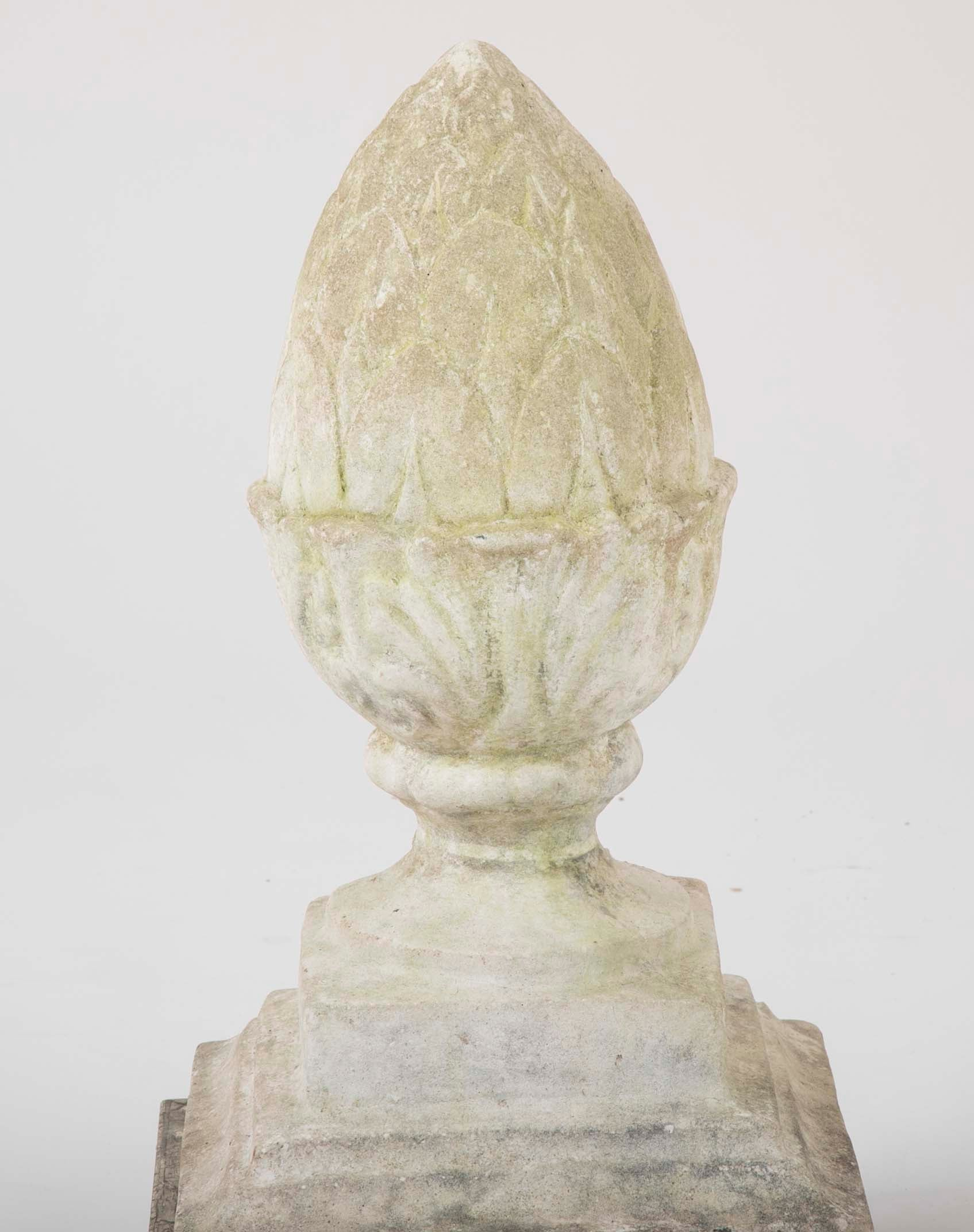 Vintage Stone Pineapple from Top of Stove