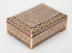 Persian Tessellated Bone and Inlaid Wood Box