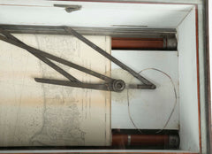 Rare, Possibly a Tradesman's Sample, of a Late 19th Century Nautical Chart Holder