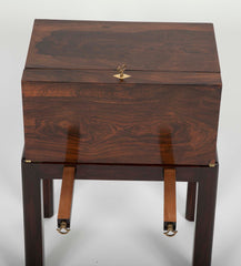 19th Century English Rosewood Travel Desk on Stand