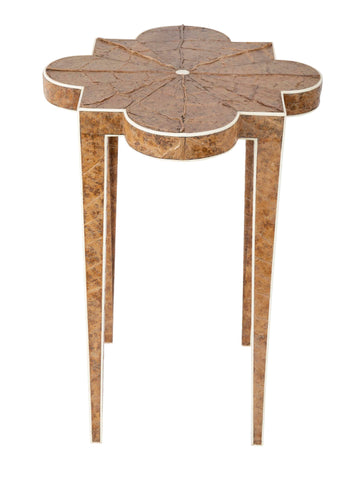 An Art Deco Style Tobacco Leaf and Faux Ivory Side Table.