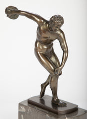 Patinated Bronze Figure of a Discus Thrower