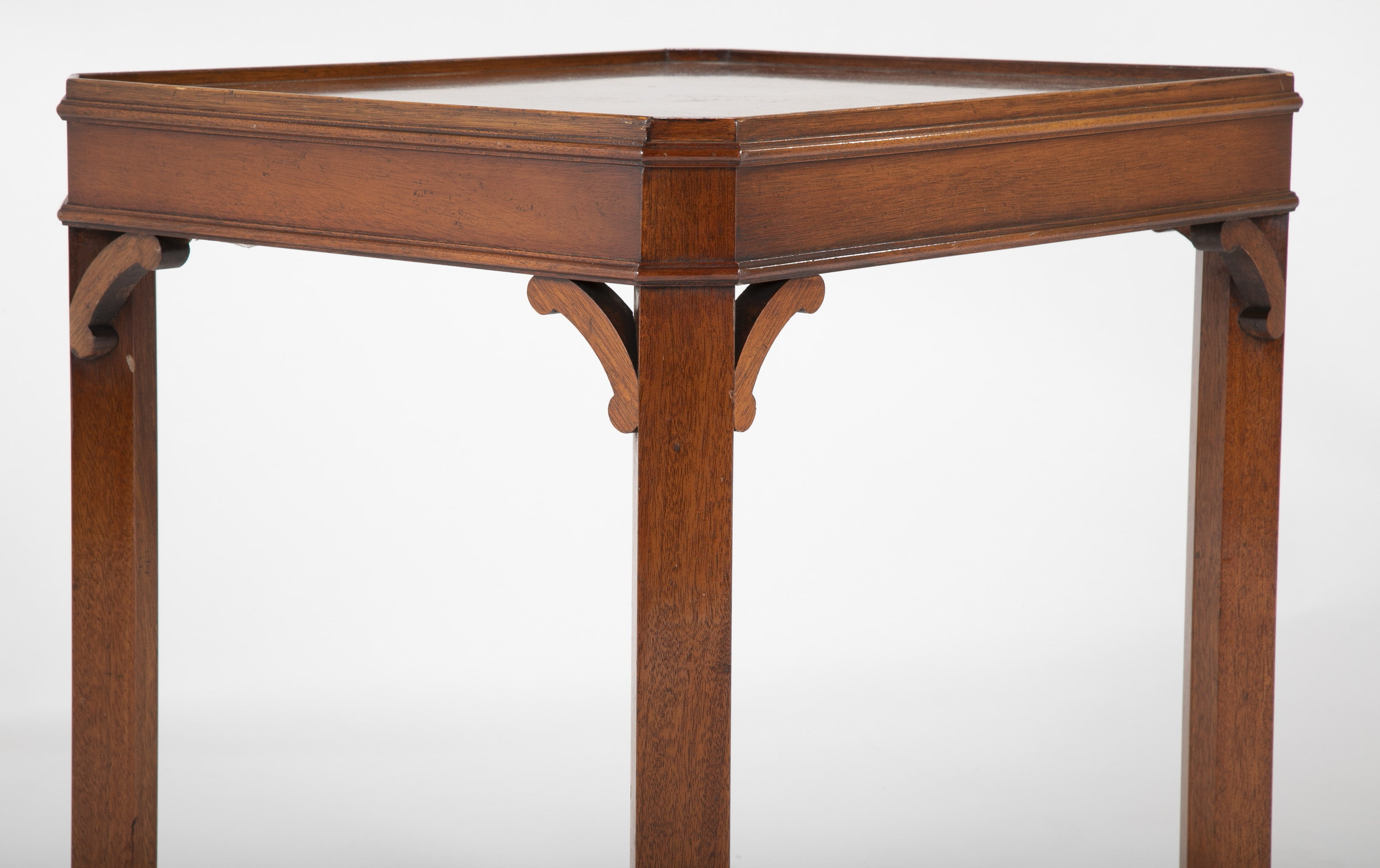 A Georgian Mahogany Tray Top End Table