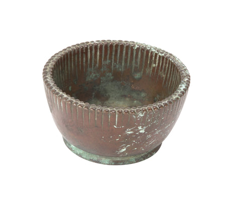 Small Tiffany Bowl in Bronze with Dentil Rim
