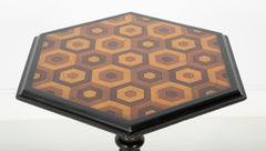 Anglo-Indian Adjustable Stand with Parquetry Top