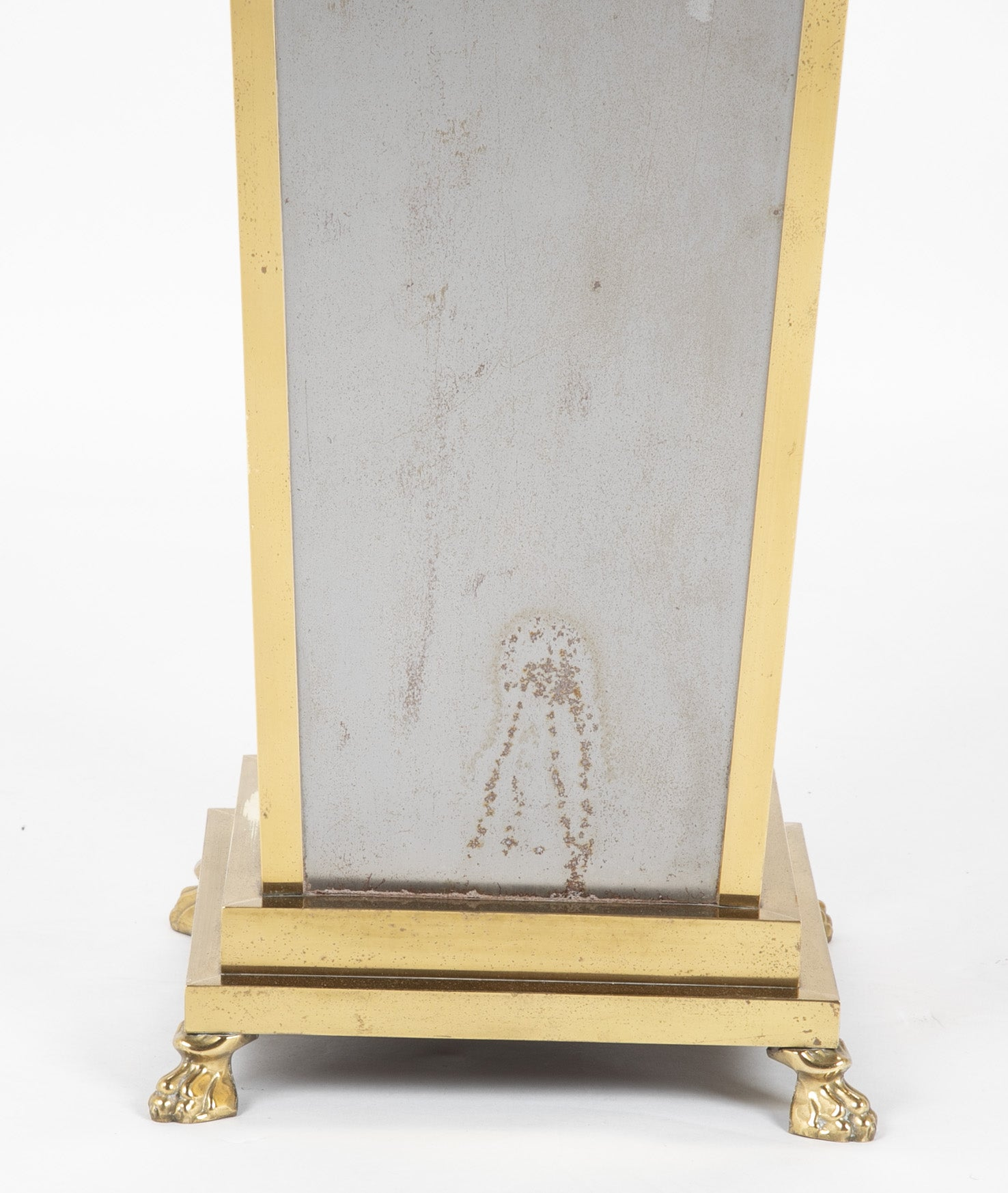 Steel and Brass Pedestal in the Manner of Maison Jansen