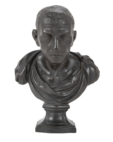 A 19th Century Ebonized Plaster Bust of Marcus Tulles Cicero