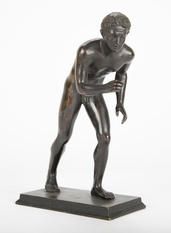 "Bronze Figure of "" The Boy Wrestler"""