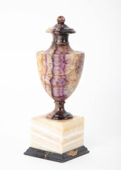 English Blue John or Darbyshire Spar Covered Urn Form Orniment