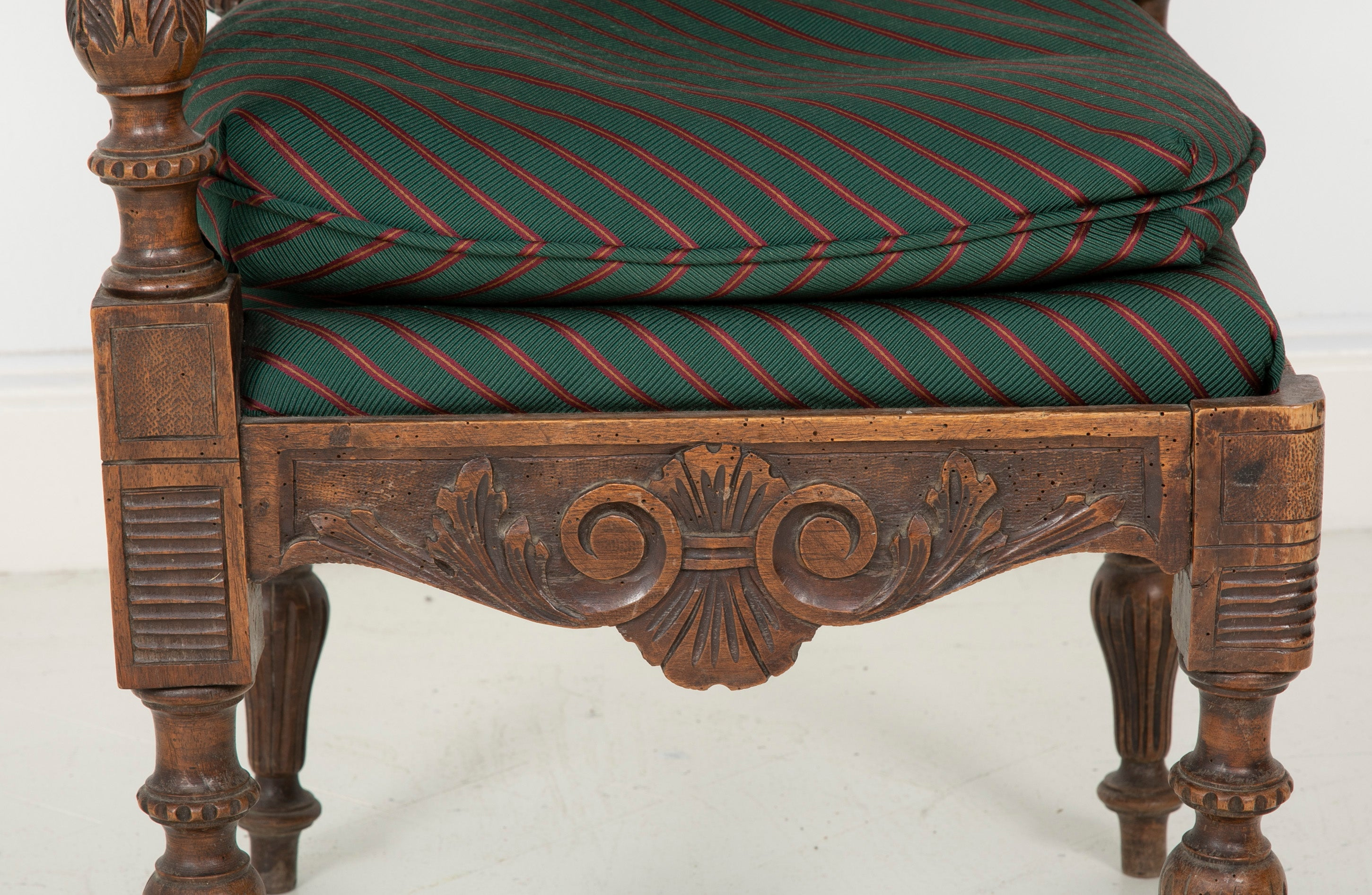 Wonderfully Carved 19th Century Italian Walnut Corner Chair