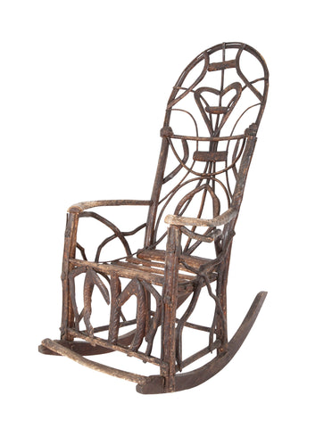 Rustic Rocking Chair Attributed to Rev. Ben Davis of Blowing Rock, North Carolina