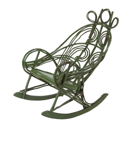 American Painted  Adirondack Twig Rocking Chair