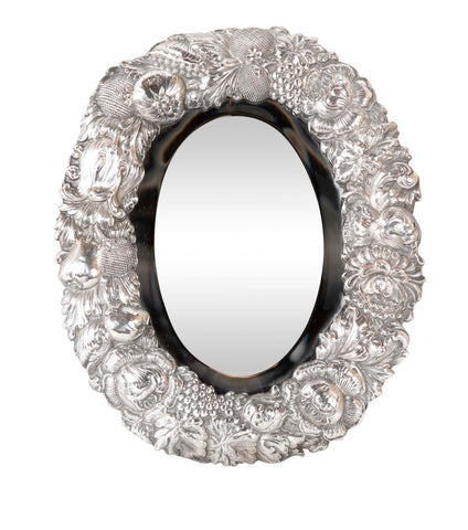Oval Repousse Silver-Plated Frame