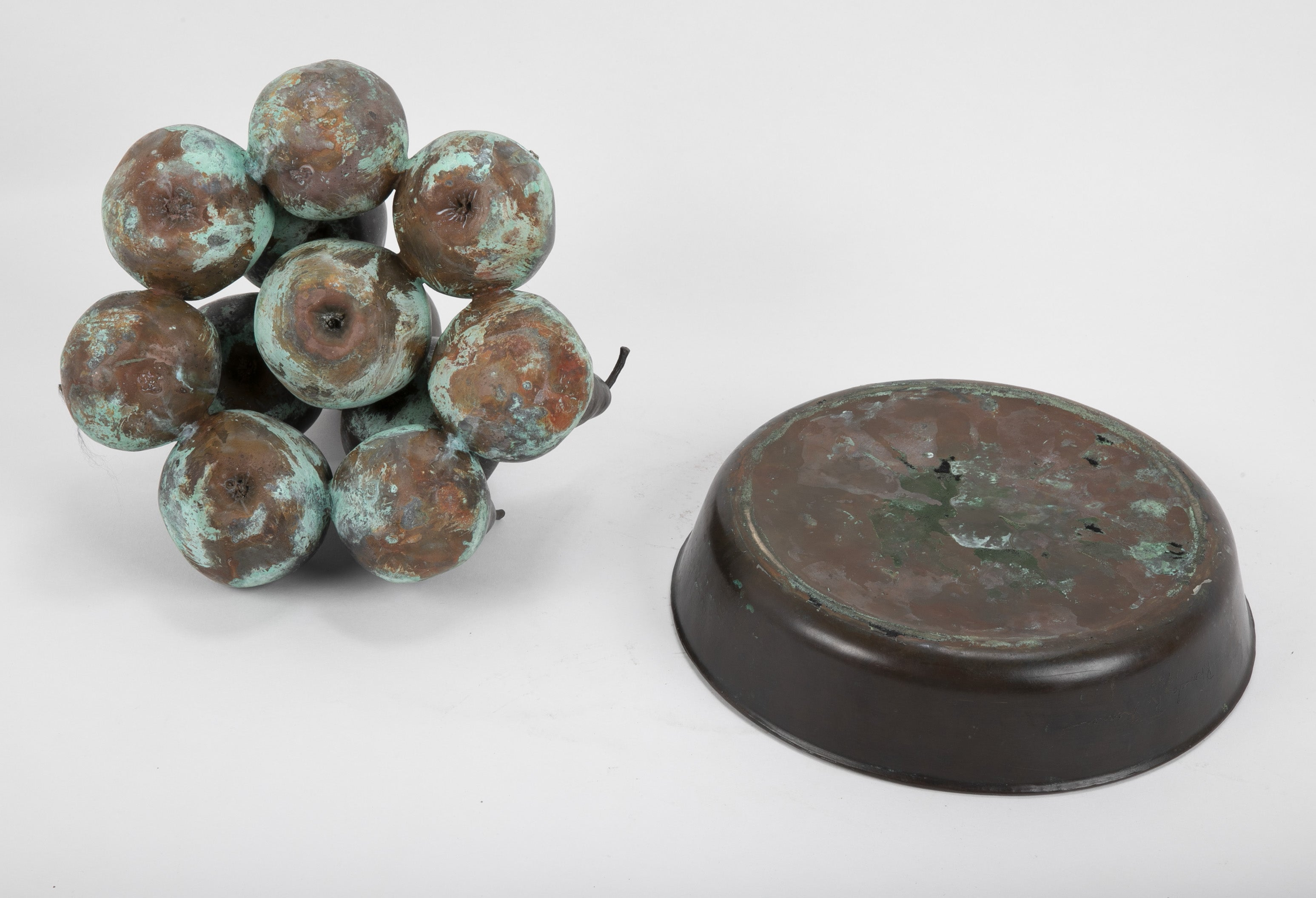 Bronze Sculpture of Fruit by Rhonda R. Shearer
