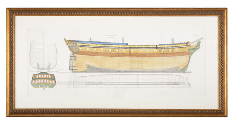 Naval Architecture Plan of East Indigman, Early 19th Century