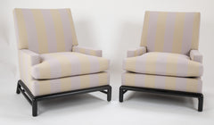 Pair of T.H. Robsjohn Gibbings Arm Chairs Produced by Widdicomb