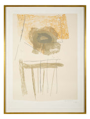 "Robert Motherwell  "" Chair "" 1972 Colored Lithograph"