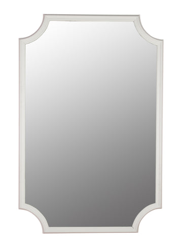 Large Mirror in White Frame