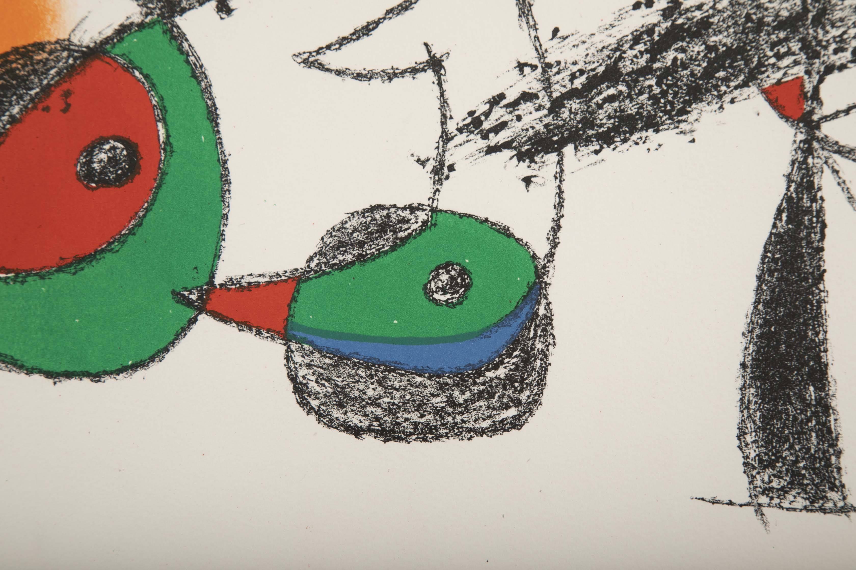 """Raymond Queuneau"" Color Lithograph by Joan Miro"