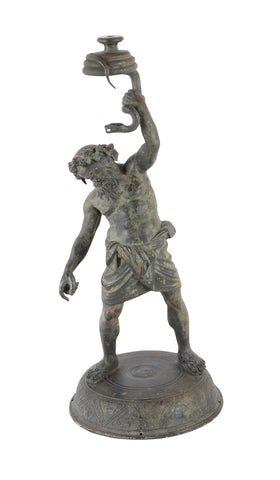 Italian Grand Tour Bronze of Silenus, Roman God of Wine