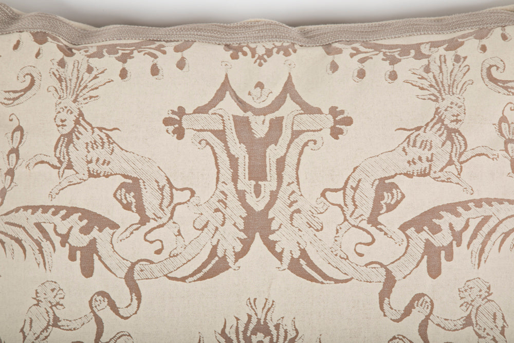 Fortuny Pillow with Lions and Monkeys