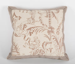 Beige & White Small Fortuny Pillow