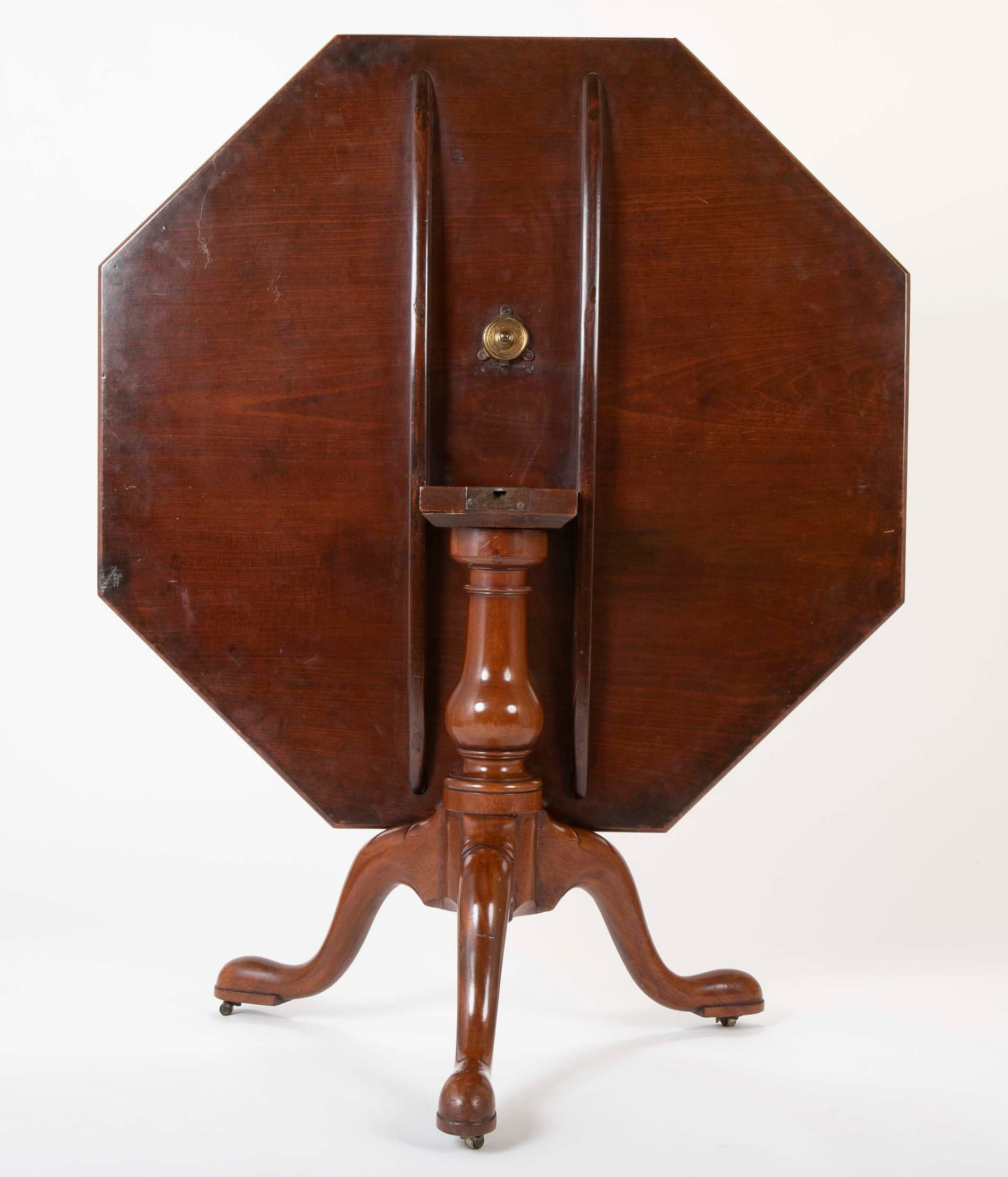 George II Mahogany Octagonal Tilt Top Center Table