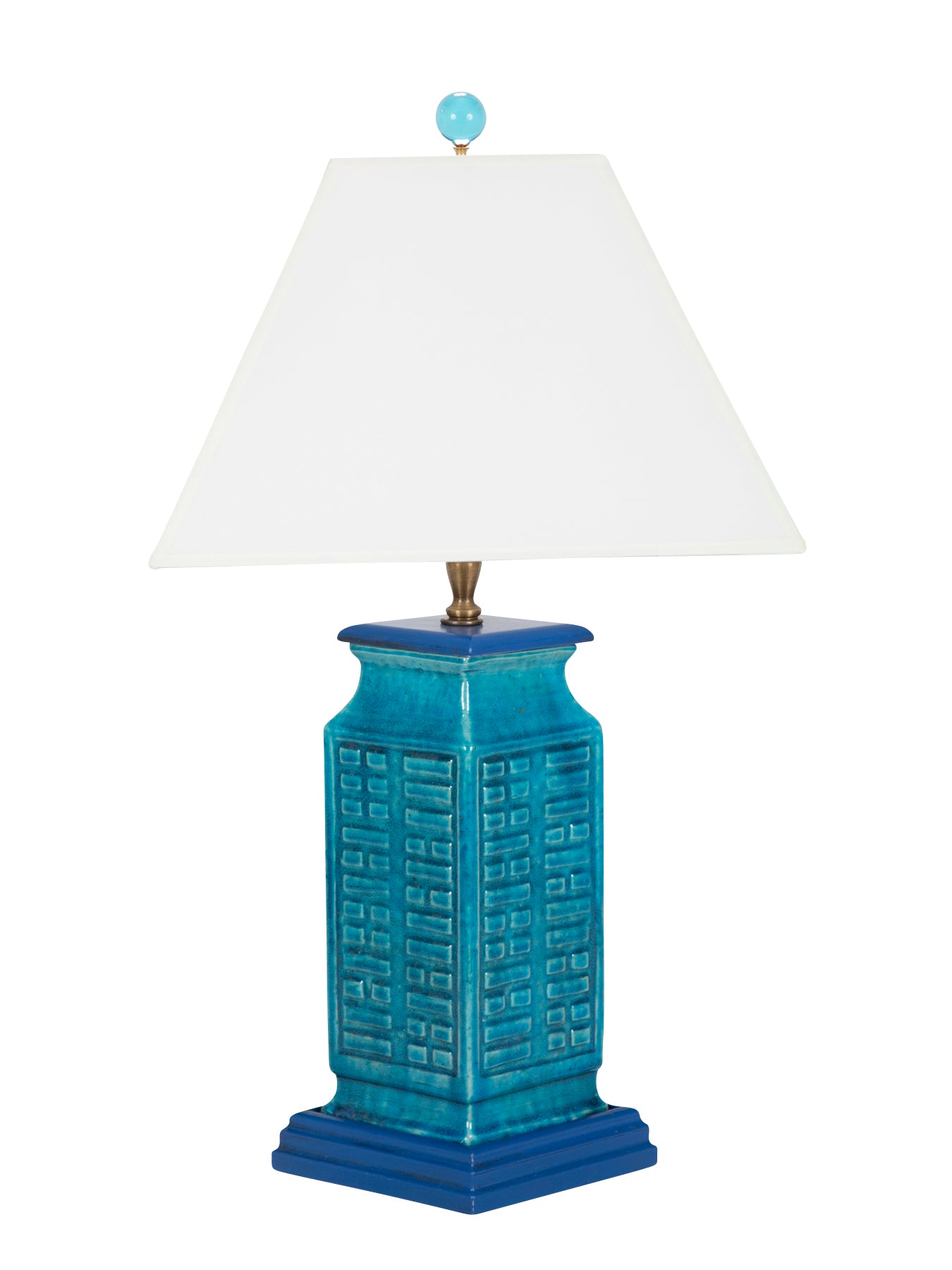 Turquoise Chinese Archaic Form Ceramic Vases now Lamps