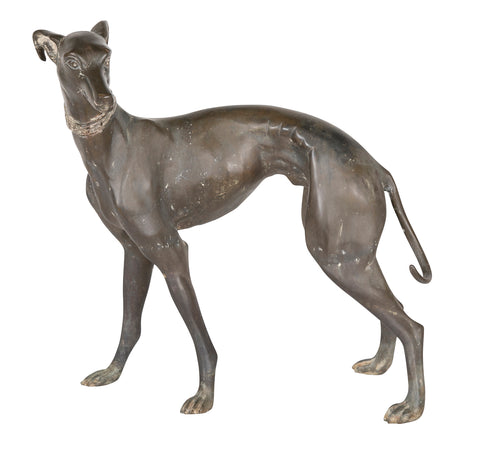 Bronze Sculpture of a Whippet