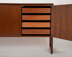 Mahogany and Aluminum Cabinet Designed by Jens Risom Designs Inc.