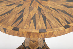 Early 19th Century Continental Parquetry Center Table