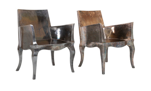 "Pair of Silvered ""Louise"" Chairs by Paul Mathieu"