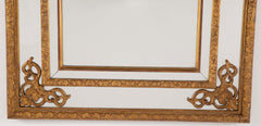 Gilded French Two Part Regence Style Mirror