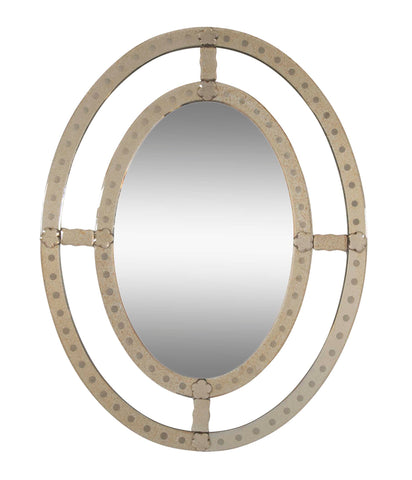 Decorative Late 20th Century Venetian Style Oval Mirror