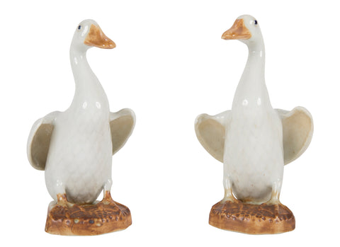 Pair of Chinese Porcelain Ducks