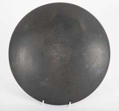 Large Blackware Charger by Maria and Santana Martinez, 'San Ildefonso'
