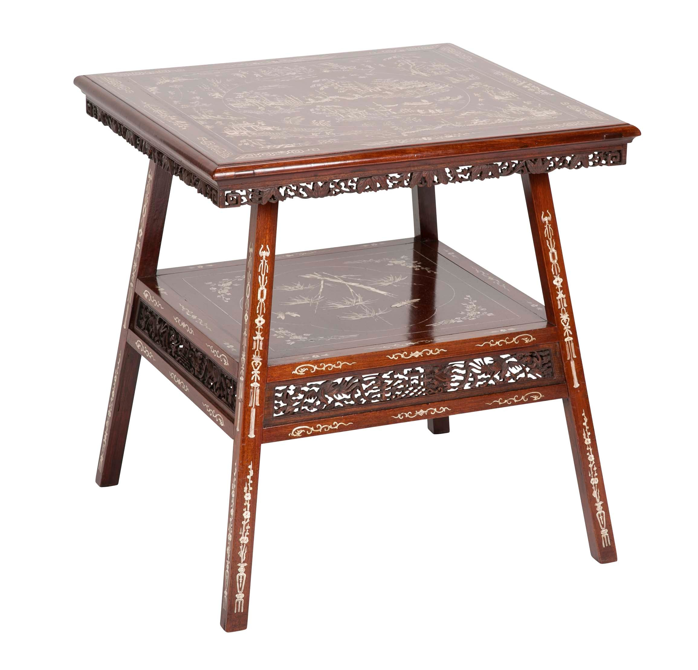 Chinese Side Table.Early 20th Century Chinese Side Table With Inlay Avery Dash