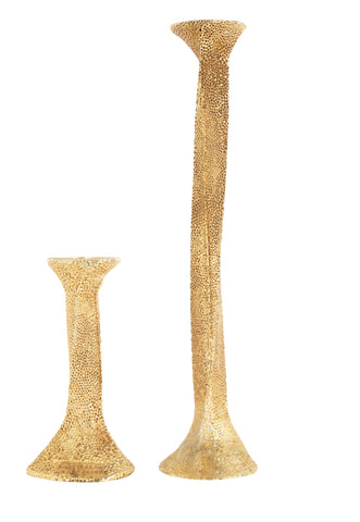 Matched Pair of Gilt Bronze Candlesticks by Stephane Galerneau