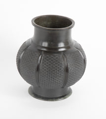 19th Century Japanese Bronze Jar with Allover Scale Design