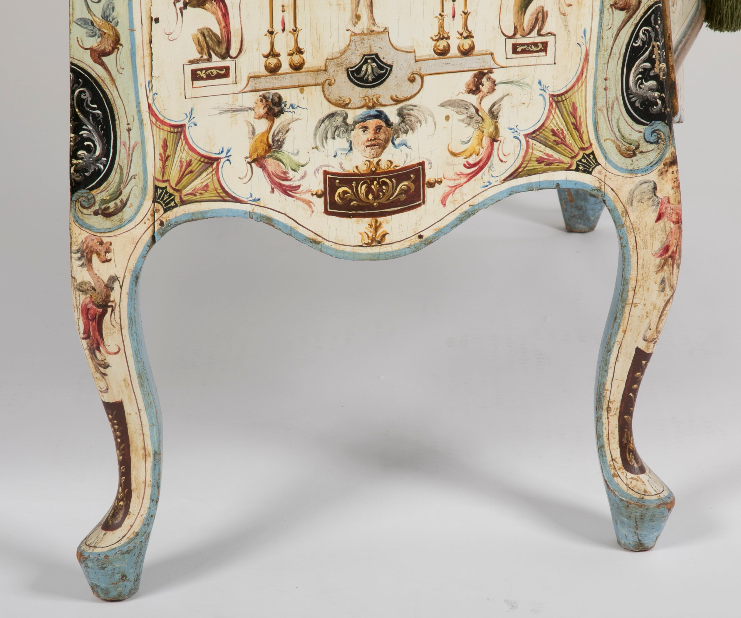 Venetian Rococo Painted Commode